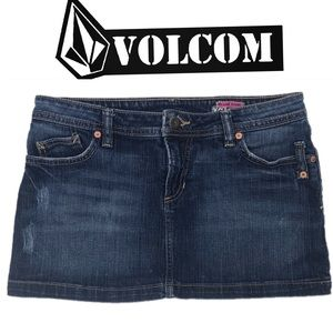 Volcom Jean Mini Skirt Size 7 Denim